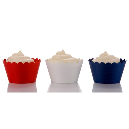 Dress My Cupcake July 4th Trio Cupcake Wrappers, Set of 36](Cupcake Wrapper)