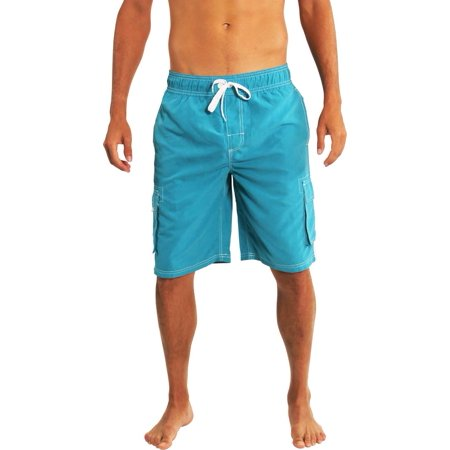 6ccc1edc7d8ee Norty Mens Swim Trunks - Watershort Swimsuit - Cargo Pockets - Drawstring  Waist Bathing Suits and Swim Shorts - Super Comfortable and Fast Drying  Board ...