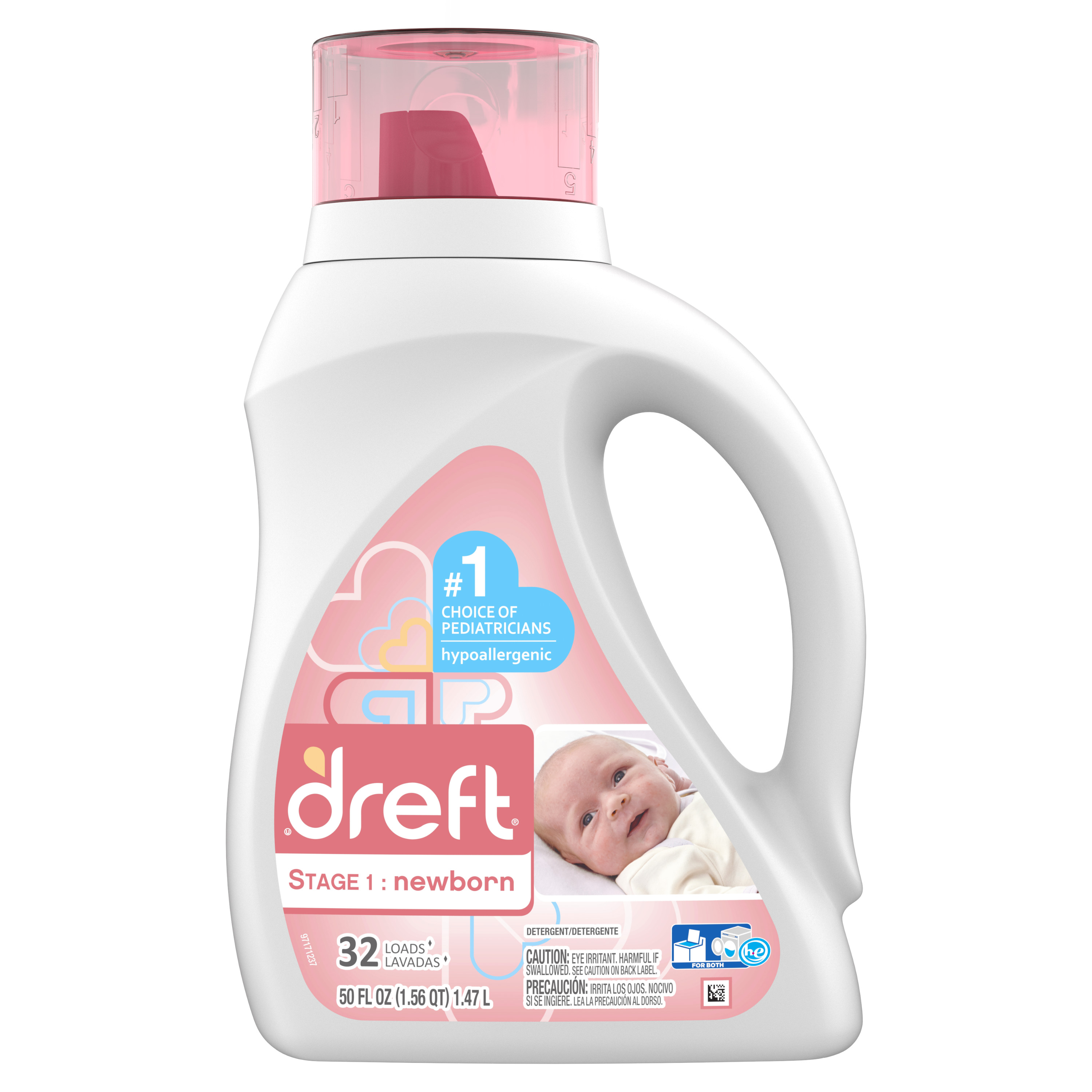 Dreft Stage 1: Newborn Liquid Laundry Detergent, 32 Loads 50 fl oz
