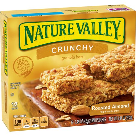 Nature Valley Granola Bars Crunchy Roasted Almond 6 Pouches