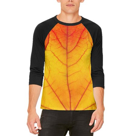 Halloween Autumn Fall Leaf Costume Mens Raglan T - Halloween City Twin Falls