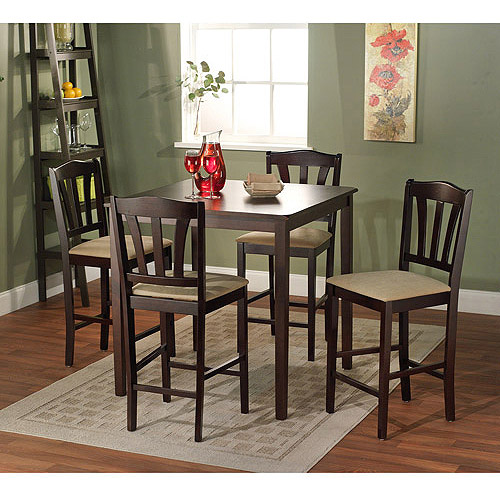Metropolitan Counter Height 5-Piece Dining Set, Espresso