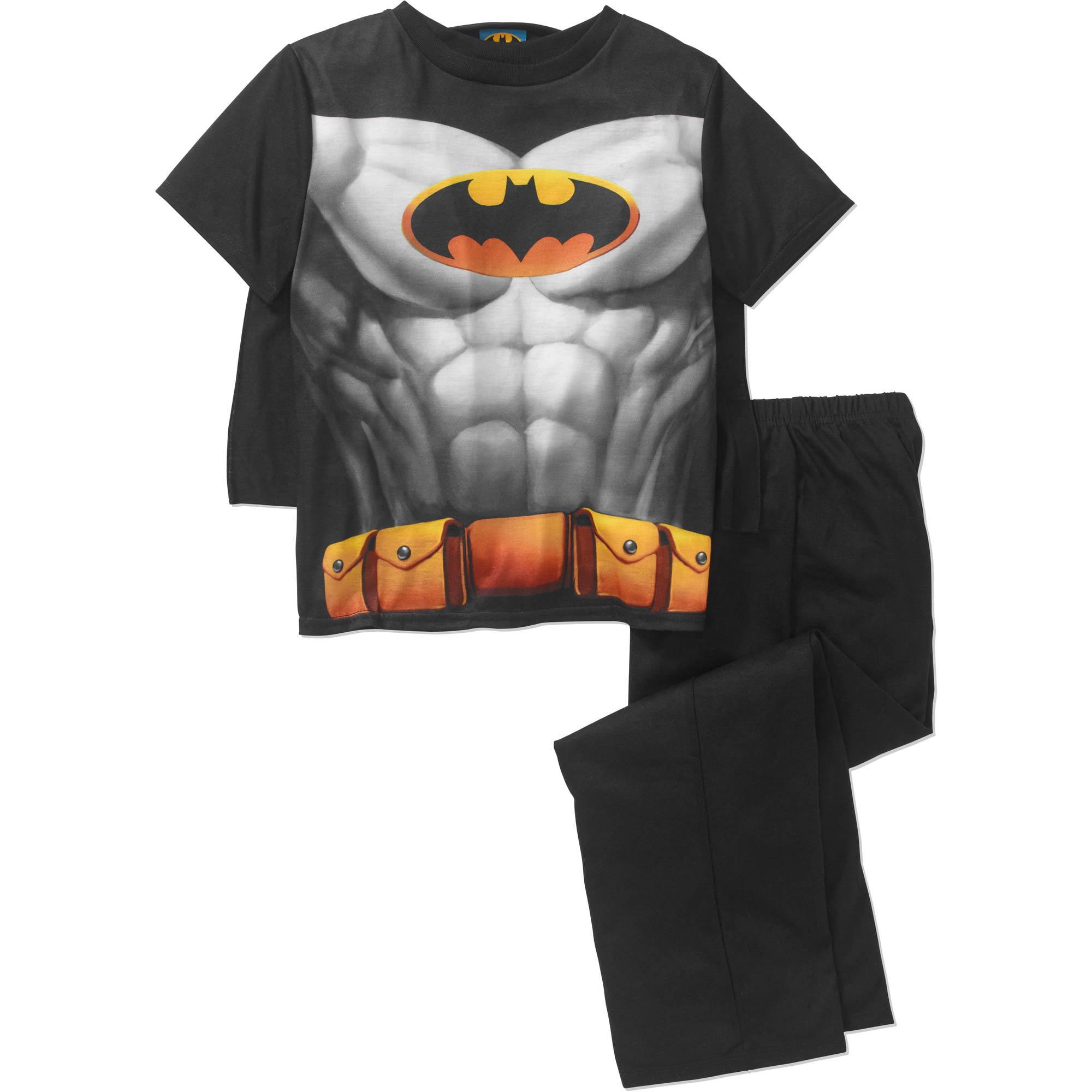Boys DC Comics BATMAN Muscle Body Novelty Pyjamas with Cape 2 to 8 Years