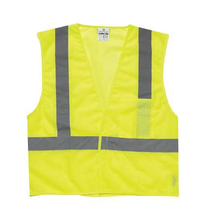 ML KISHIGO High Visibility Vest,Class 2,2XL,Lime 1083-2X