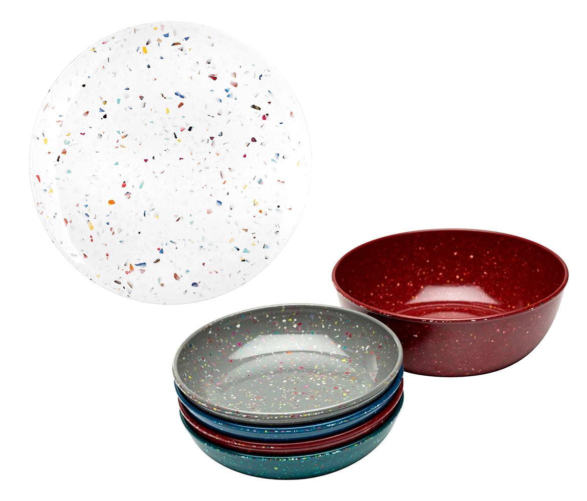 Dinnerware Zak Design Urban Multicolored Confetti Pasta Bowls (5pc Set) and Zak Designs White Confetti... by Zak Designs