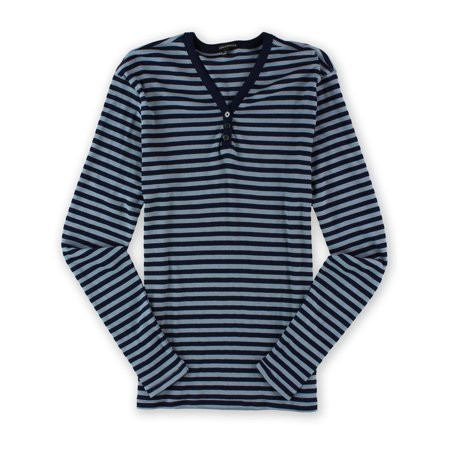 Sons of Intrigue Mens Henley Stripe Ls Thermal Basic T-Shirt