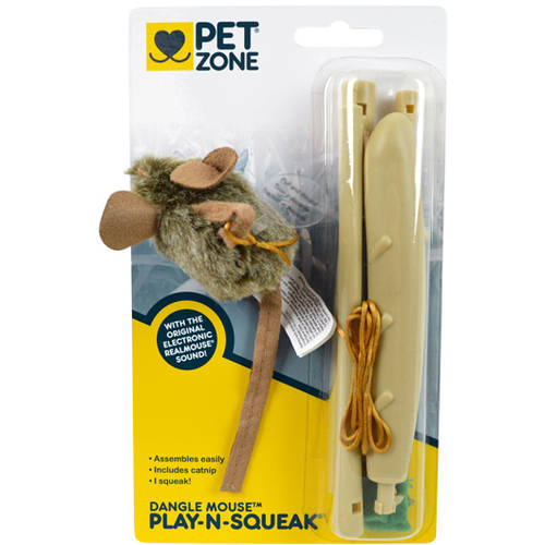 Pet Zone Dangle Mouse Wand Cat Toy