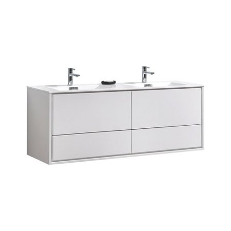 Orren Ellis Trieu 60 Double Bathroom Vanity Set Walmart Com