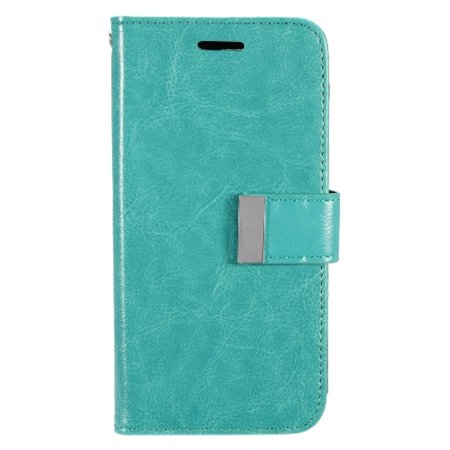 Insten Folio Flip Leather [Card Slot] Wallet Flap Pouch Case Cover For LG G5, Mint Green