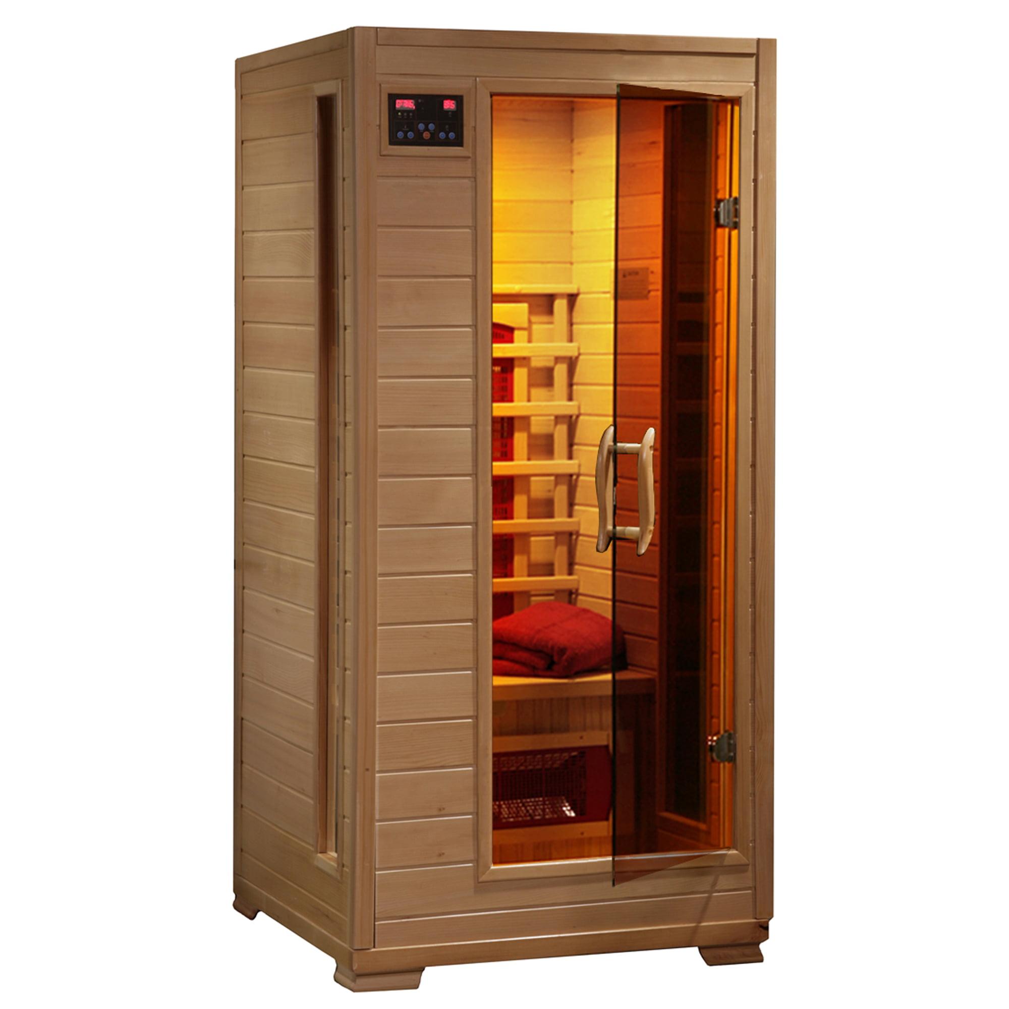 Radiant Saunas 1-2 Person Hemlock Infrared Sauna w/ 3 Ceramic Heaters