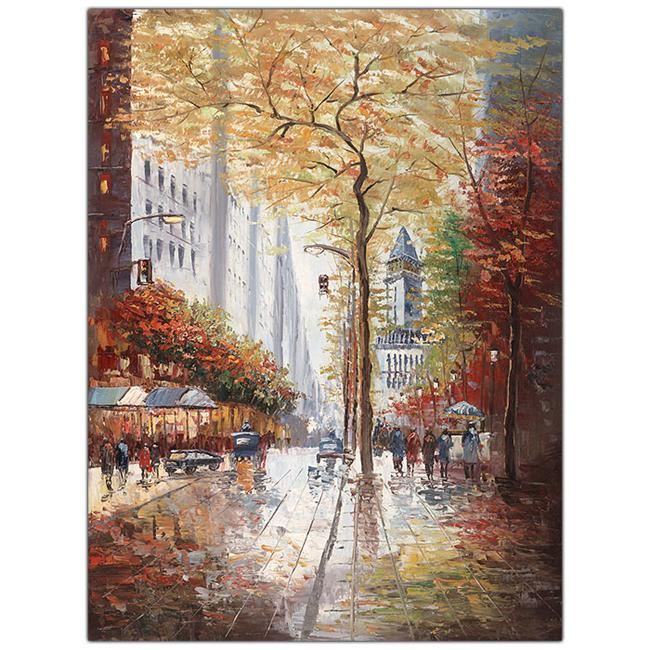 French Street Scene II by Joval-Framed 24x32 Canvas Art