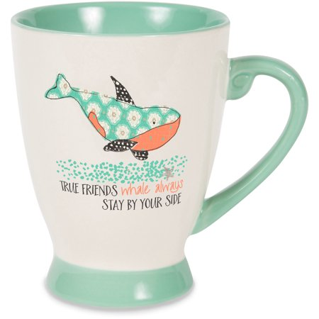 Pavilion - True Friends Whale Always Stay By Your Side - Beach Themed - Large 18 oz Coffee Cup - Whale Gifts