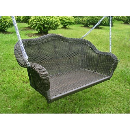International Caravan Chelsea Wicker Porch Swing