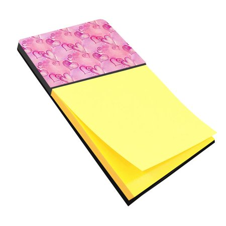 Watercolor Hot Pink Hearts Sticky Note Holder - image 1 de 1