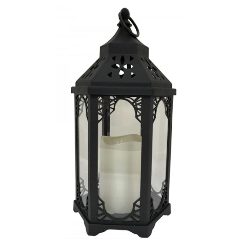 "Decorative LED Lantern;Battery-Operated, Portable. Product Size: 14"" height x 6"" width x 6 depth; Indoors/ Outdoors, Light up accents room or yard"