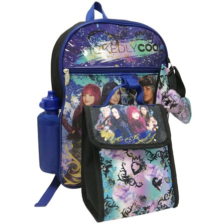 DISNEY DESCENDANTS 5-PIECE BACKPACK - Disney Mesh Backpack