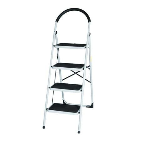 Remarkable New En131 Folding 4 Step Ladder Home Depot Lightweight 300 Lb Capacity Anti Slip Pabps2019 Chair Design Images Pabps2019Com
