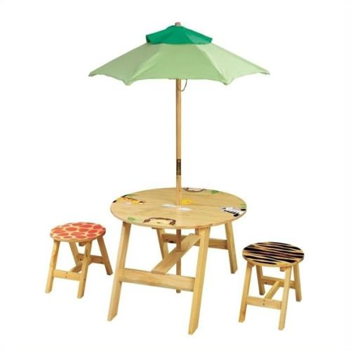 Teamson Fantasy Fields Sunny Safari Outdoor Table and 2 Chairs