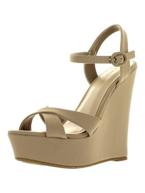 f6ebf4f7fe5 Product Image Bamboo ELIZA-25 Womens Platform Wedge Heel Sandals