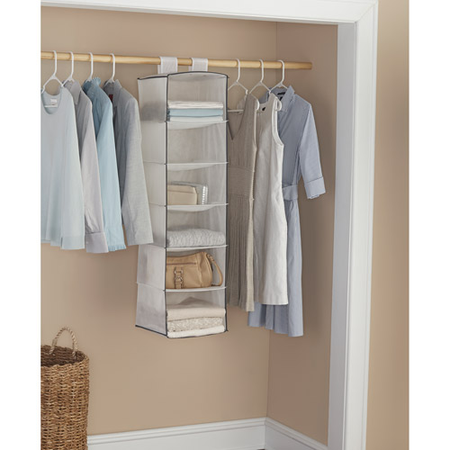 Mainstays 6-Shelf Organizers, White with Grey Trim, 2-Pack
