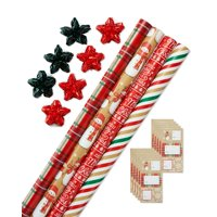 American Greetings Christmas 41-Piece Value Gift Wrap Set with Bows and Tags ($35 value)