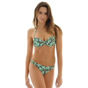 Raisins Juniors 2 Piece Push Up Halter Bikini Underwire Bathing Suit Floral Sizes: Medium
