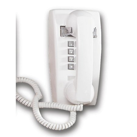 Cortelco ITT-2554-V-WHM Mini Wall Phone w/ Volume WHITE