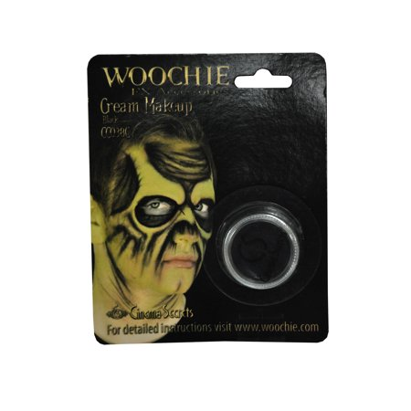 Carded Black Mask Cover Halloween Makeup - Makeup Black Eye Halloween