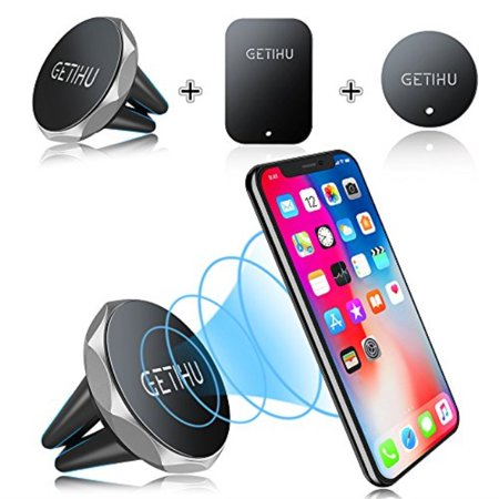 check out 40975 215df GETIHU Car Phone Mount Magnetic Air Vent Cell Phone Holder Stand for iPhone  8 7 6 6S Plus 5s Samsung HTC Sony All Smartphones GPS Mobile Magnet ...