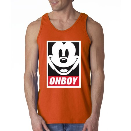 3eb492411e840e New Way - New Way 416 - Men s Tank-Top Oh Boy Mickey Mouse Face Anonymous  Dope - Walmart.com