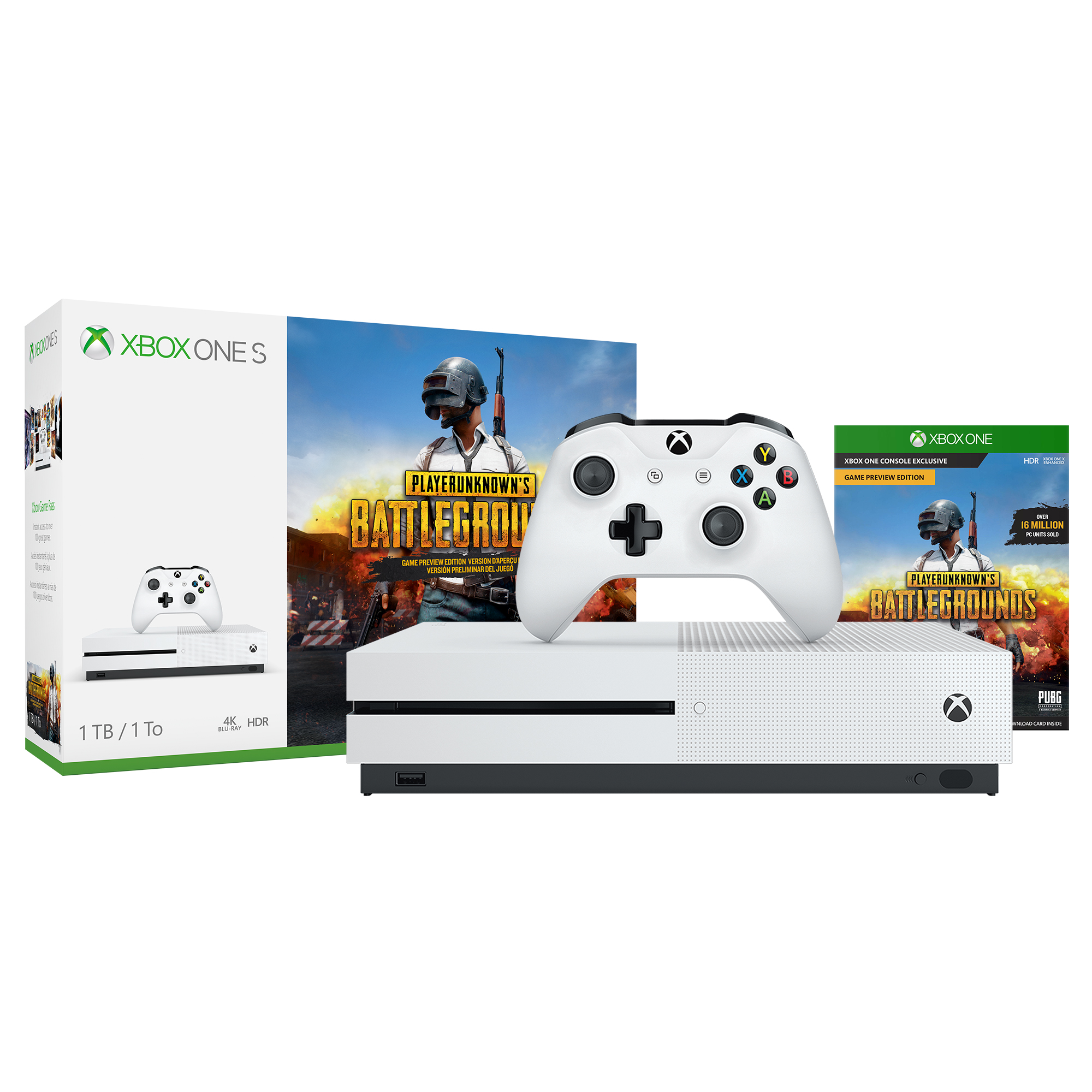 Microsoft Xbox One S 1TB PLAYERUNKNOWN'S BATTLEGROUNDS Bundle, 234-00301