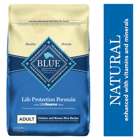 Blue Buffalo Life Protection Formula Natural Adult Dry Dog Food, Chicken and Brown Rice,