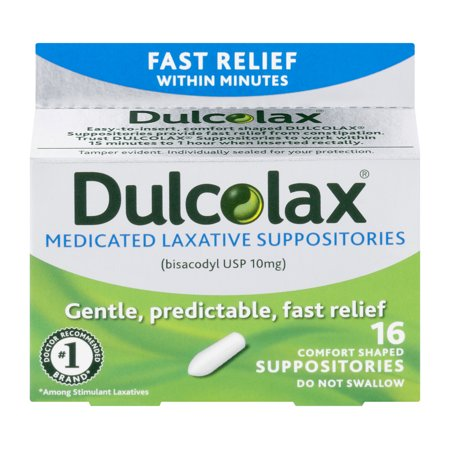 Medicated Laxative Suppositories 16ct