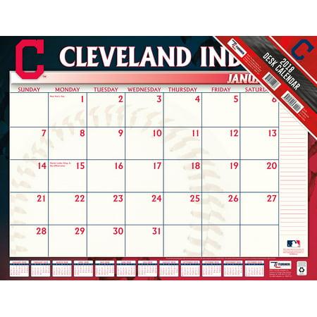 Ecc Calendar.Turner Sports Cleveland Indians 2018 22x17 Desk Calendar Walmart Com