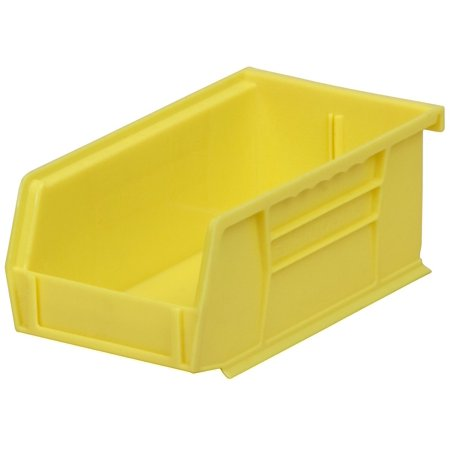 Akro-Mils 30220 Plastic Storage Stacking Hanging Akro Bin, 7-Inch by 4-Inch by 3-Inch, Yellow, Case of 24 Akro Plastic Bins