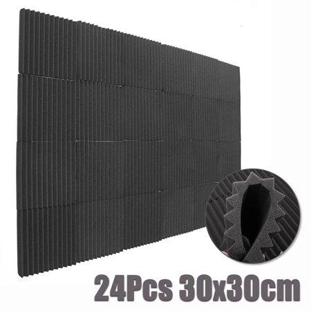 24/48/96 pcs Soundproofing Foam Tiles Acoustic Anti Noise Sound-Absorbing Foam Fire Retardant Tile Acoustic Foam KTV Accessories 30x30cm - image 1 of 5