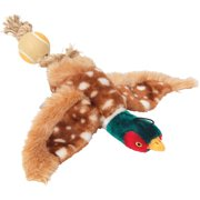 House Of Paws Hp768 Plush Pheasant Dog Toy With Tennis Ball Tail