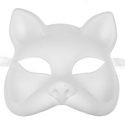 unpainted white plain arts and crafts cat venetian masquerade version face - Halloween Cat Arts And Crafts