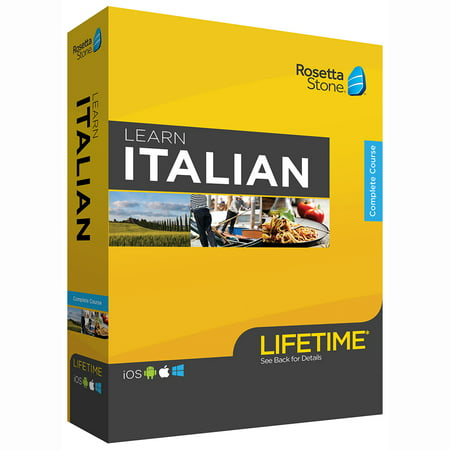 Rosetta Stone: Learn Italian with Lifetime Access on iOS, Android, PC, and Mac [Physical Box]