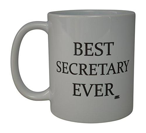 Rogue River Funny Coffee Mug Best Secretary Ever Novelty Cup Great Gift Idea For Secretary Coworker Office Friend (Secretary)