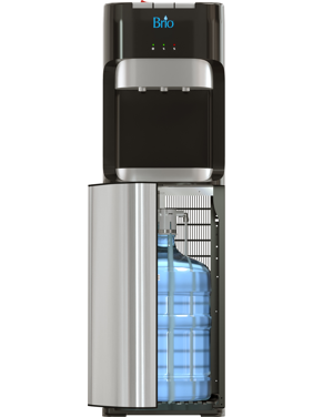 Brio 400 Series Tri-Temperature Bottom Load Water Cooler Dispenser With Hot, Cold and Room Temperature Water, Holds 3 to 5 Gallons- UL Listed/Energy Star Approved