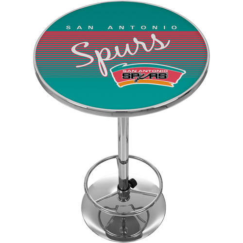 San Antonio Spurs Hardwood Classics NBA Chrome Pub Table