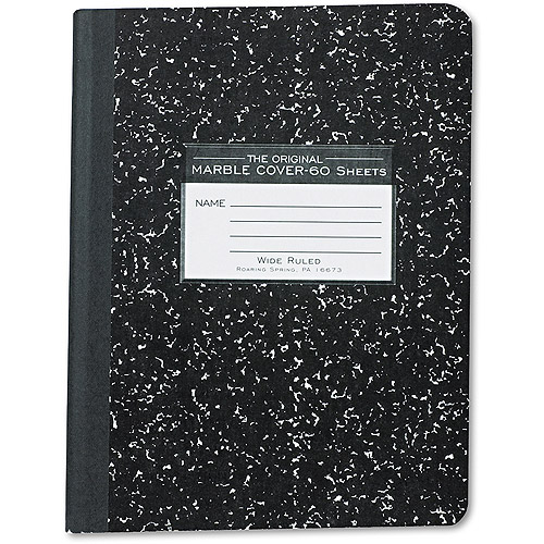 Roaring Spring Marble Cover Composition Book, Wide Rule, 9-3/4 x 7-1/2, 60 Pages