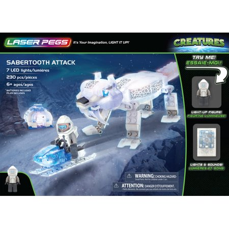 Laser Pegs Sabertooth Attack