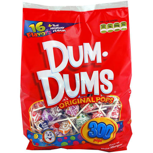 Dum-Dums, Assorted Flavors Original Pops Assorted Flavors, 50 Oz, 300 Ct