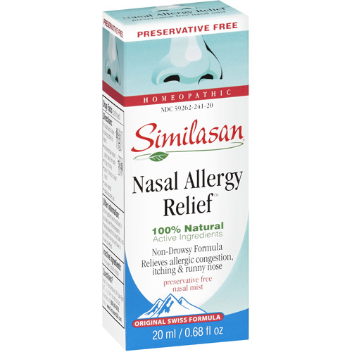 Similasan Original Swiss Formula Homeopathic Nasal Allergy Relief Nasal Mist, 0.68 oz