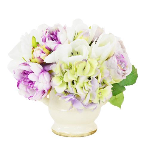 Creative Displays, Inc. Peony and Tulip Mixed Flower Bouquet