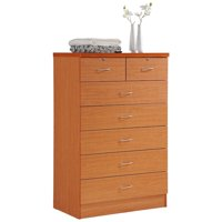 Hodedah 7 Drawer Chest with Locks on 2 Top Drawers in Cherry