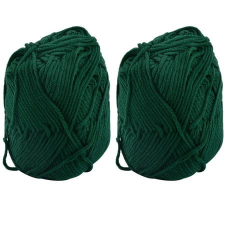 Gift DIY Scarf Sweater Hat Knitting Sewing Yarn String Cord Dark Green 100g 2pcs Green Spring Knitting Yarn