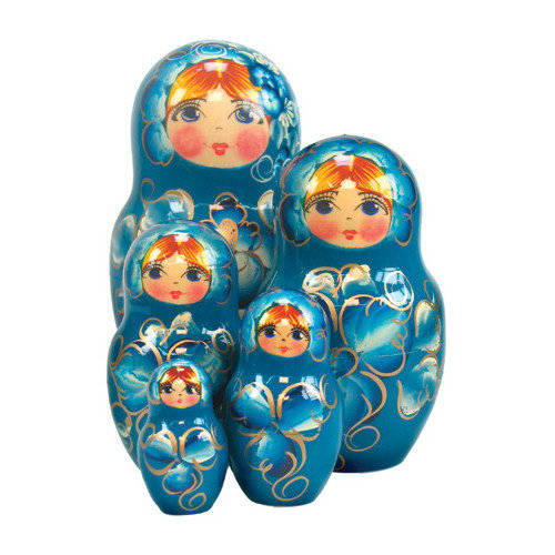 G Debrekht Russia 5 Piece Natasha Nested Doll Set